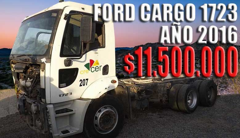 FORD CARGO 1723 / AÑO: 2016