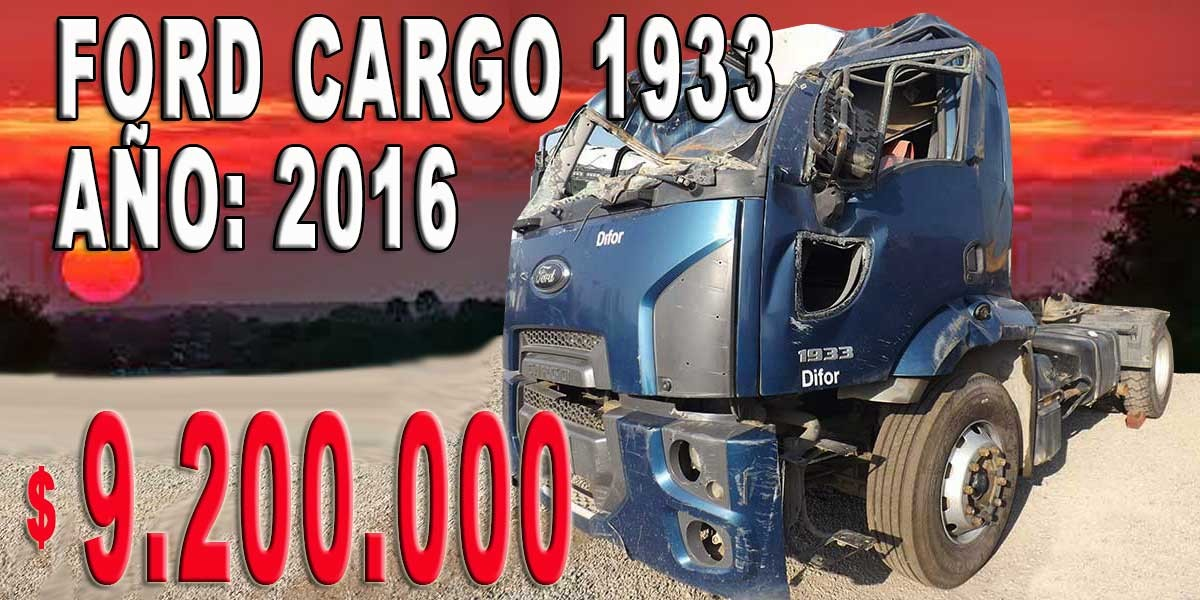 FORD CARGO 1933 / AÑO: 2016